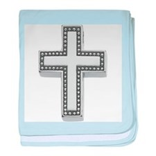 Silver Cross/Christian baby blanket
