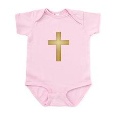 Gold Cross/Christian Infant Bodysuit