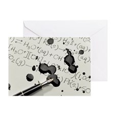 Ink Spill on Equations Greeting Card