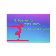If Gymnastics were easy Rectangle Magnet (10 pack)