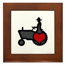 Love Farming Framed Tile