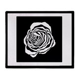 Zebra Rose/Throw Blanket