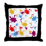 Paint splash/Throw Pillow
