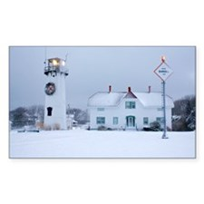 Snow Covered Lighthouse Decal