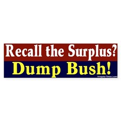 Recall the Surplus Bumper Sticker