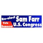 Re-elect Sam Farr Bumper Sticker