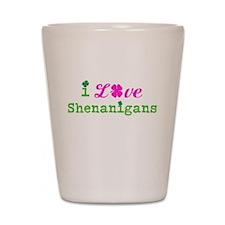 i Love Shenanigans Shot Glass