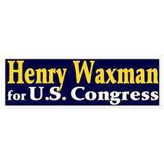 Re-elect Henry Waxman Bumper Sticker