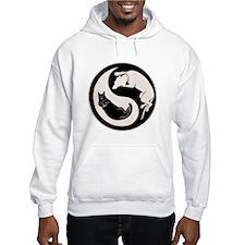 Dog-Cat Yin-Yang Hoodie Sweatshirt
