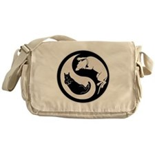 Dog-Cat Yin-Yang Messenger Bag