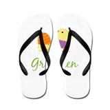 Easter Chick Gretchen Flip Flops