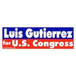 Re-elect Luis Gutierrrez Bumper Sticker