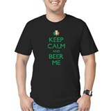 Keep Calm And Beer Me Irish Flag Shamrock T-Shirt