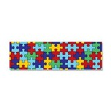 Autism Awareness Puzzle Piece Pattern Car Magnet 1