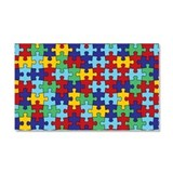 Autism Awareness Puzzle Piece Pattern Car Magnet 2