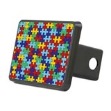 Autism Awareness Puzzle Piece Pattern Hitch Cover