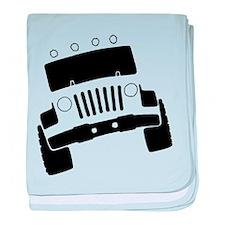 Jeepster Rock Crawler baby blanket