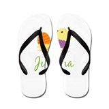 Easter Chick Juliana Flip Flops