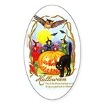 Happiest Halloween Oval Sticker
