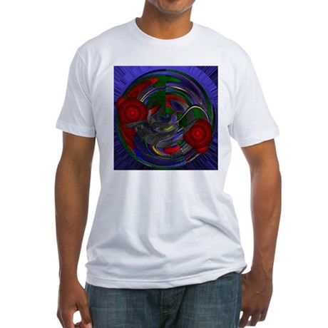 Abstract 005 Fitted T-Shirt
