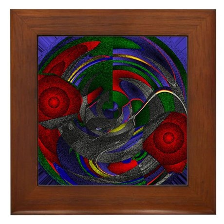 Abstract 005 Framed Tile