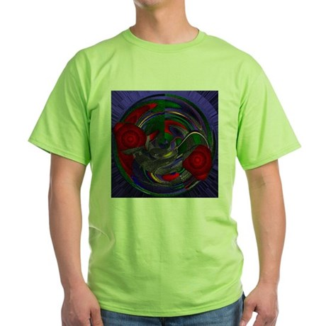 Abstract 005 Green T-Shirt