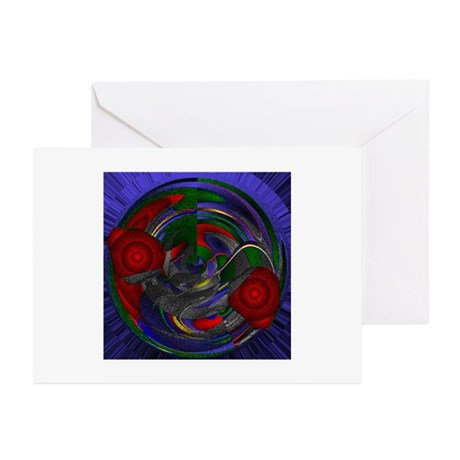 Abstract 005 Greeting Cards (Pk of 10)