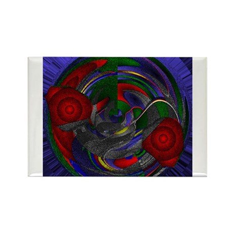 Abstract 005 Rectangle Magnet (100 pack)