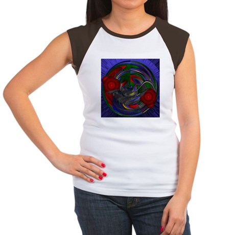 Abstract 005 Women's Cap Sleeve T-Shirt