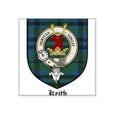 "Keith Clan Crest Tartan Square Sticker 3"" x 3"""