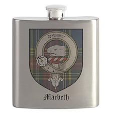 Macbeth Clan Crest Tartan Flask