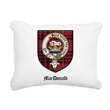 MacDonald Clan Crest Tartan Rectangular Canvas Pil