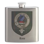 Rose Clan Crest Tartan Flask