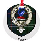 Rose Clan Crest Tartan Round Ornament