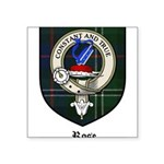 Rose Clan Crest Tartan Square Sticker 3