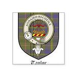 Taylor Clan Crest Tartan Square Sticker 3