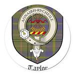 Taylor Clan Crest Tartan Round Car Magnet