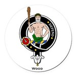 Wood.jpg Round Car Magnet