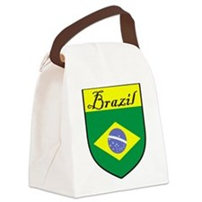 Brazil Flag Crest Shield Canvas Lunch Bag