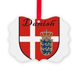 Danish Flag Crest Shield Ornament