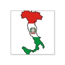 "Italy-Map-Decal.jpg Square Sticker 3"" x 3"""