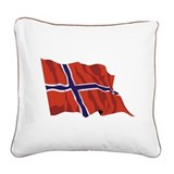 NORWAY-wavy.jpg Square Canvas Pillow
