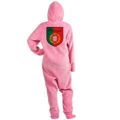 Portugal Flag Crest Shield Footed Pajamas