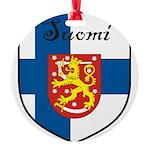 SuomiShield.jpg Round Ornament