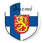 SuomiShield.jpg Round Car Magnet
