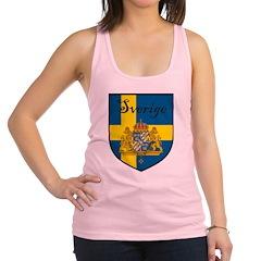 Sverige Flag Crest Shield Racerback Tank Top
