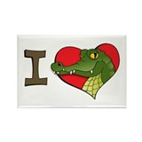 I heart crocs Rectangle Magnet (10 pack)