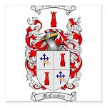 McCracken Family Crest Square Car Magnet 3