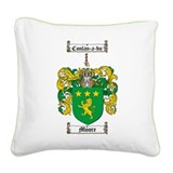 Moore Family Crest Square Canvas Pillow