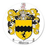Morris Family Crest Round Car Magnet